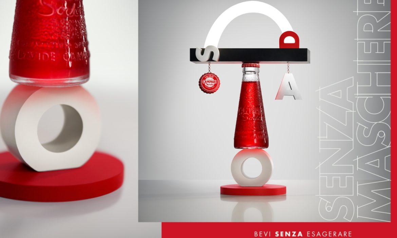 L'iconica bottiglietta Campari Soda in una nuova veste