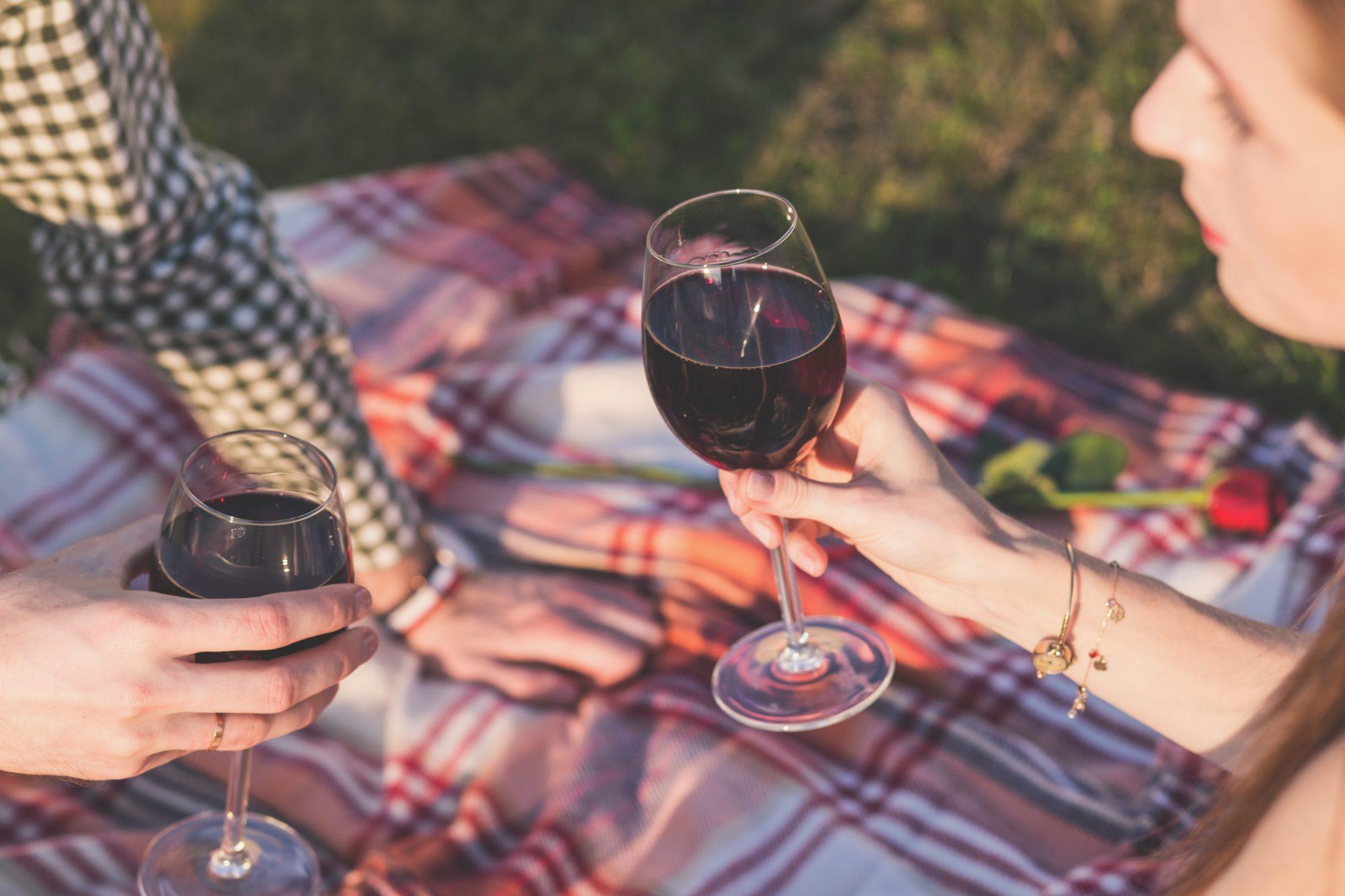 Picnic vino rosso